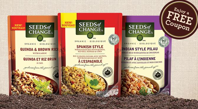 Seeds of change, produit gratuit avec coupon !