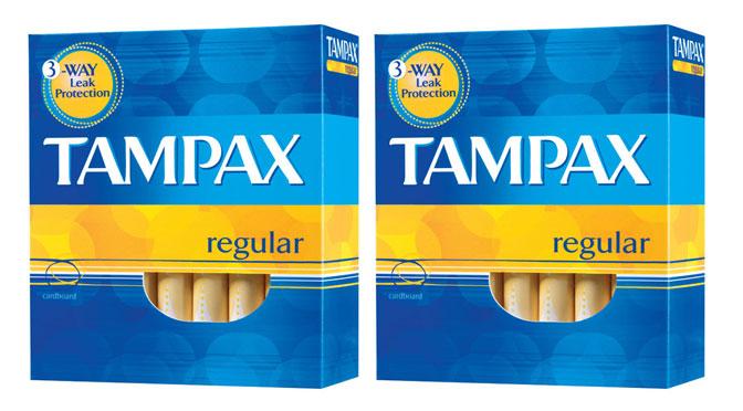 emballage de tampon Tampax