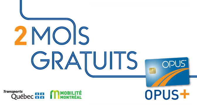 Carte Opus+ 2 mois gratuit