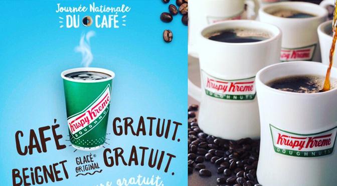 Beigne et café krispy Kreme gratuit