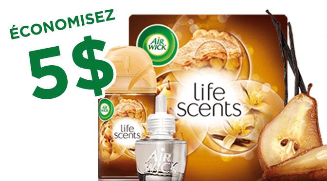 Coupon rbais life scent de 5$
