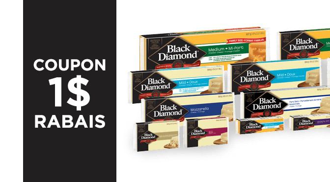 Coupon-rabais fromage Black Diamond