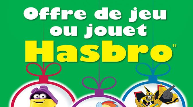 Coupon jeu gratuit Hasbro
