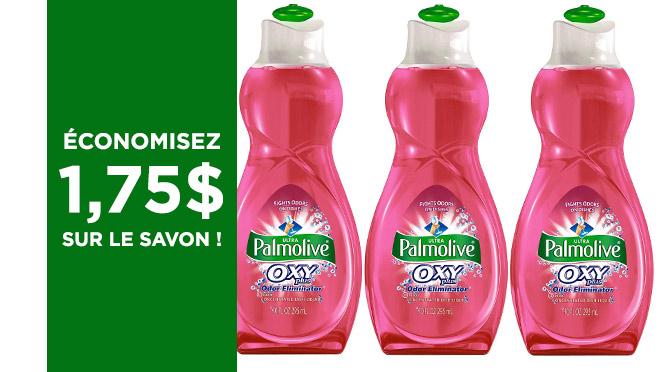 Coupon pour savon Palmolive