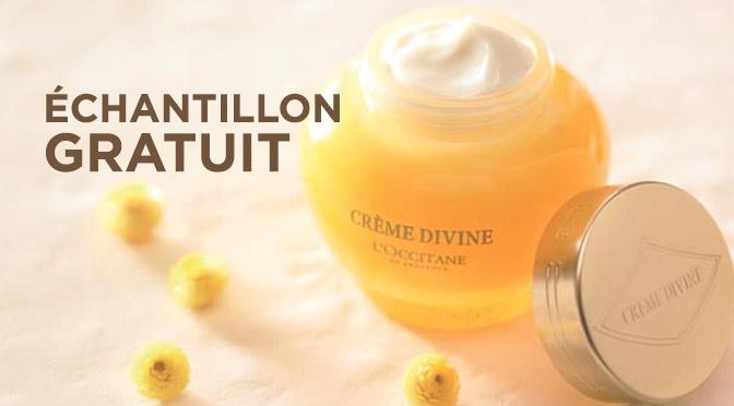 Échantillons gratuits de crème L'occitane