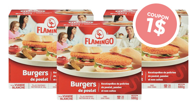 Coupon-rabais Flamingo Burger de poulet