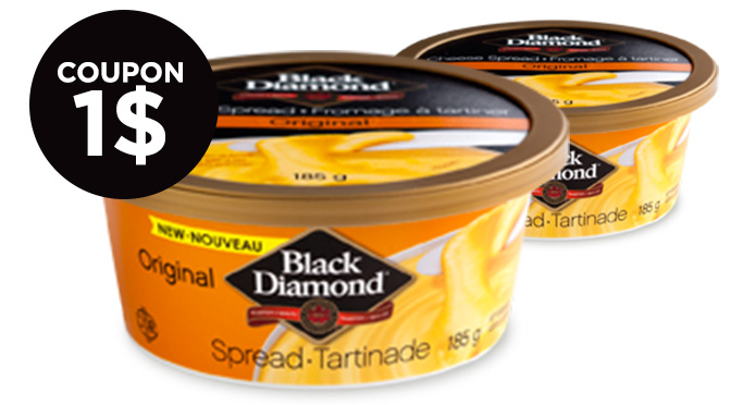 Coupon rbais sur la tartinade fromage BlackDiamond