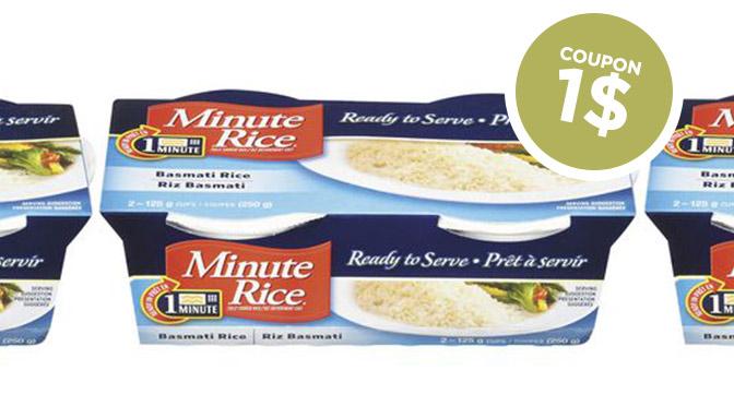 Coupon rbais Minute Rice Prêt à servir