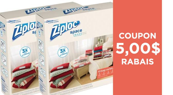Coupon rabais Ziploc Space Bag