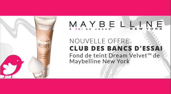 Essai gratuit echantillons dream velvet Maybelleline