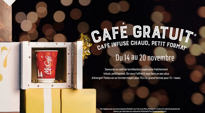 Café gratuit McDonalds