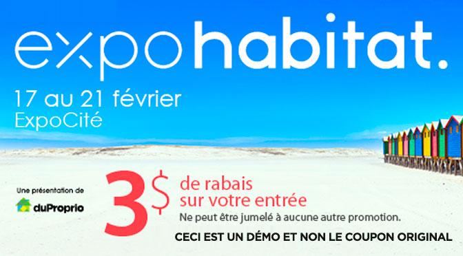 coupon expohabitat de Quebec