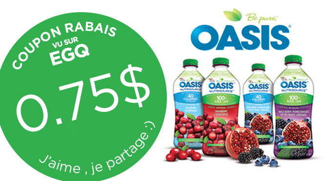 coupon jus oasis 75 cents