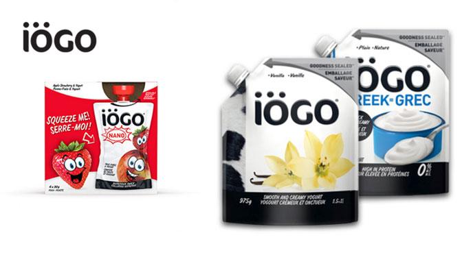 Coupon-rabais sur les pochette yogourt Iogo