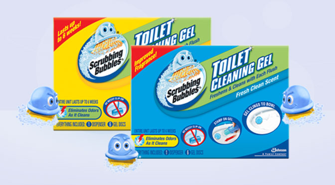 Nettoyant pour toilette scrubbing bubble en gel