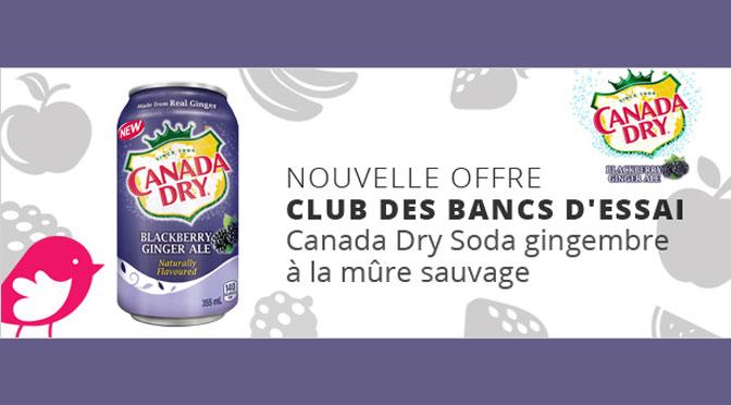 Liqueur Ginger Ale de Canada Dry gratuite