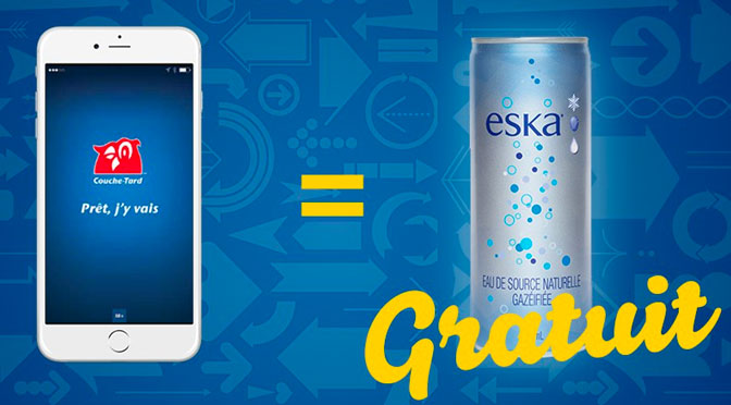 eau eska en canette gratuite