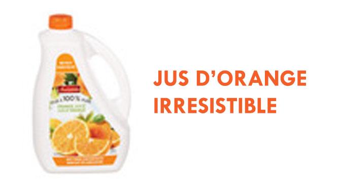 coupon jus orange irresistible
