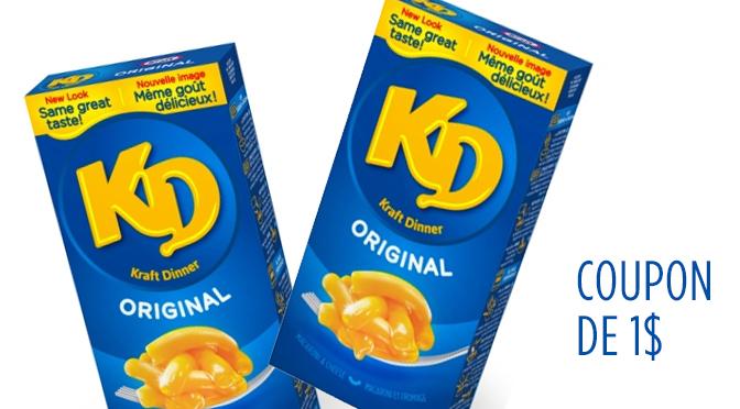 Coupon-rabais Kraft Dinner