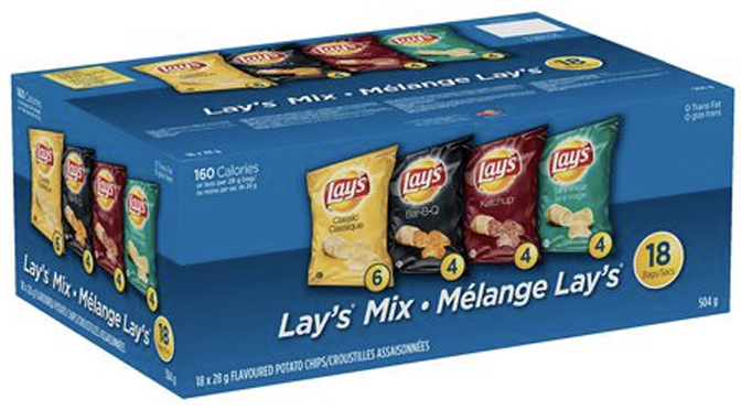 emballage sac chips lays 18