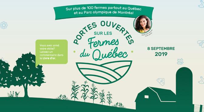 Activité gratuit porte ouverte fermes du Québec