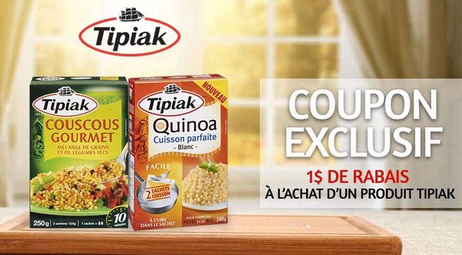 coupon rabais tipiak couscous