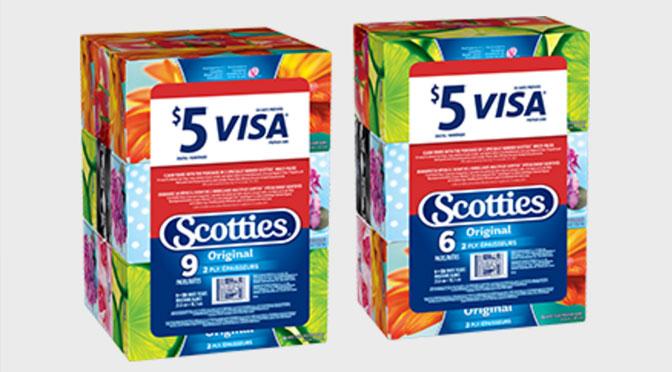 Offre de 5$ visa cadeaux avec Scotties