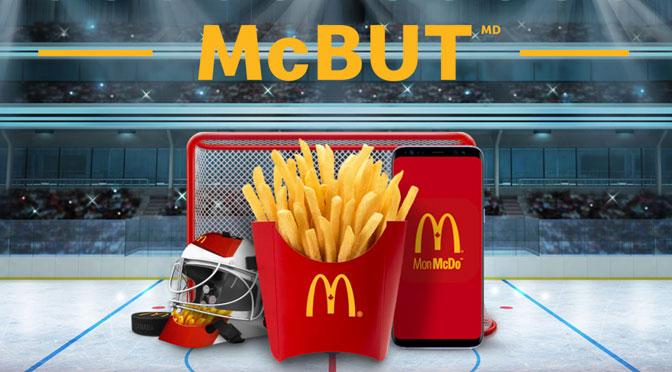frite GRatuite Mcdonal Mc But Canadiens de Montreal