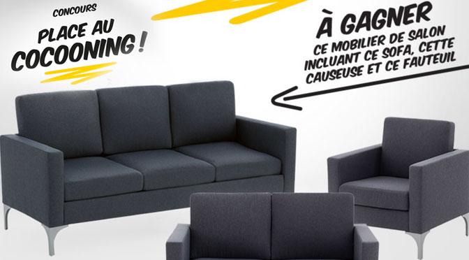 Concours Économax sofa, fauteuil et causeuse