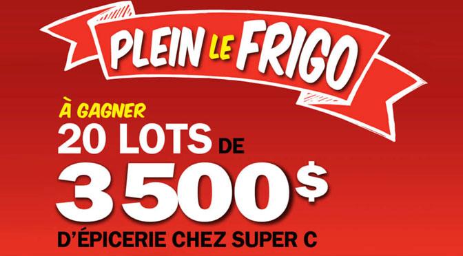 Concours Plein de Frigo Super C