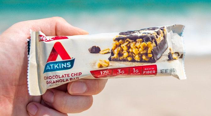 Écahntillons gratuit barre chocolaté Atkins