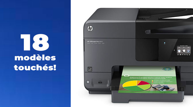 Recours collectif HP cartouche d'encre et imprimante.