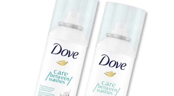 Échantillons gratuit shampooing a sec dove