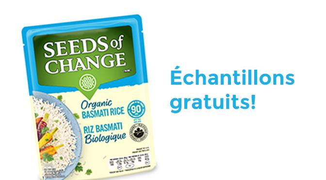 Échantillons gratuits Seed of change