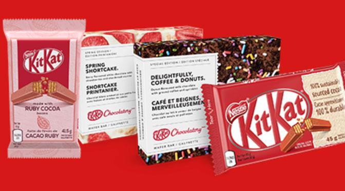 Boite gratuite de chocolat KitKat