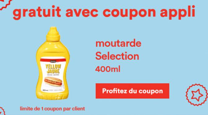 Coupon pour moutarde gratuite sélection