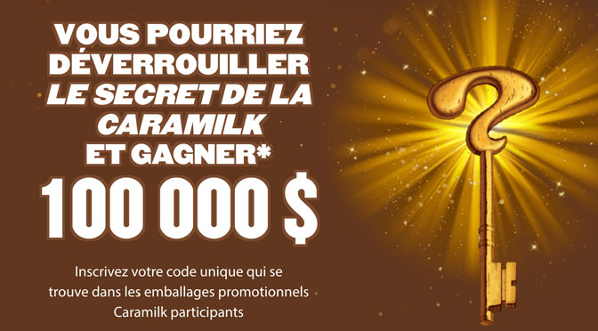 concours Clé d'or Caramilk