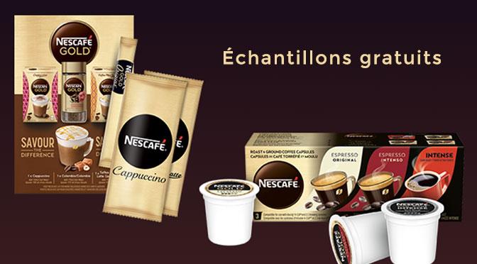 Echantillons gratuits Nescafe Gold