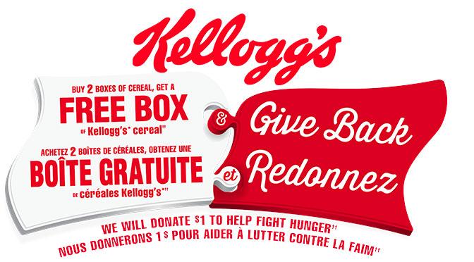 Coupon gratuité Kellogg's Boite de céréale