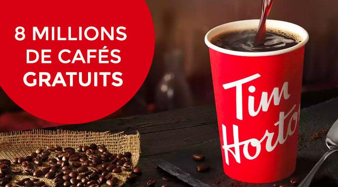 8 millions de cafe gratuit Tim Hortons