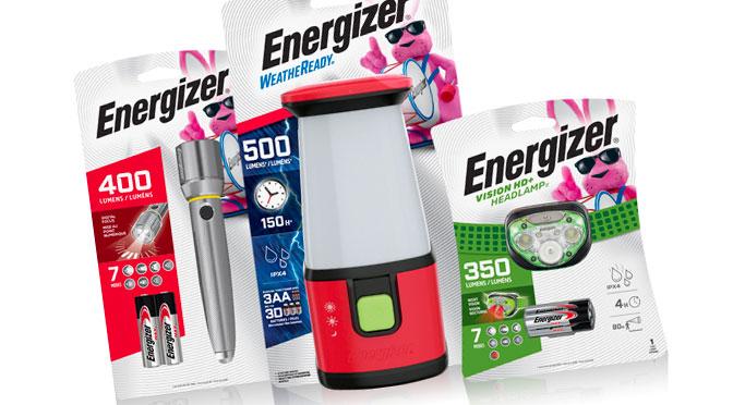 coupon-rabais Energizer lumière et batterie